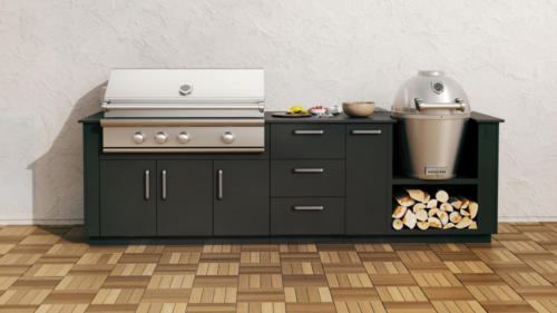 Caliber grill and Kamado, Urban Bonfire cabinets