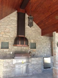 Vent-A-Hood designer series wall hood over grill | Outdoor Living | shadyoakdist.com