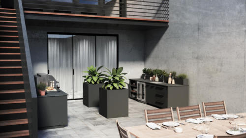 Urban Bonfire cabinets and planters